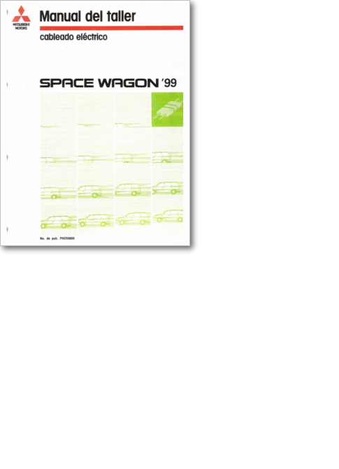 diagramas y manuales de servicio de autos mitsubishi 1093 space wagon 99 pdf space wagon