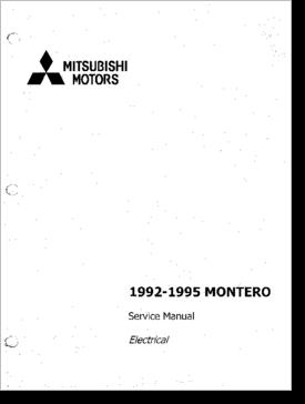 diagrama manual mitsubishi mitsubishi montero 1992 1995 rh clubdediagramas com 1997 Mitsubishi Montero mitsubishi montero 1995 manual pdf