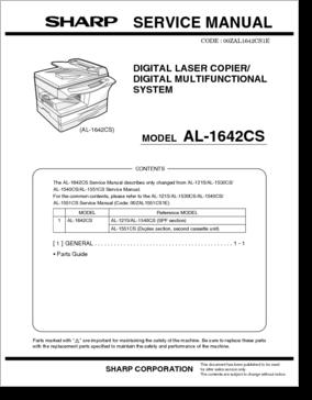 sharp al1642cs manual product user guide instruction u2022 rh testdpc co Sharp AR M317 Manual Sharp Microwave User Manuals