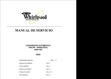 diagramas y manuales de servicio de lavarropas lavadora secadoras rh clubdediagramas com Lowe's Whirlpool Water Heater secadora whirlpool 6th sense manual español