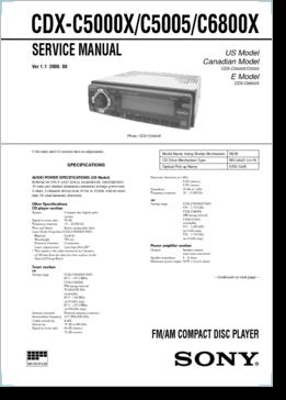 diagrama manual sony cdx c5000x c5005 c6800x rh clubdediagramas com Sony Gt260mp Sony Xplod Car Stereo