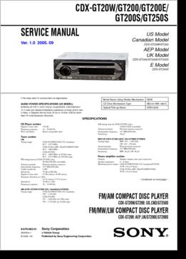 Cdx-gt270 инструкция - фото 3