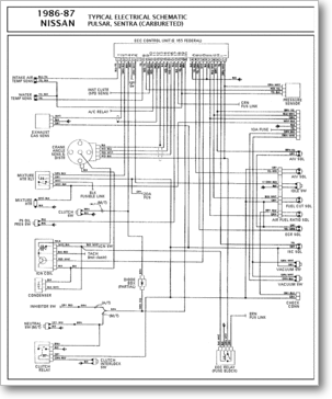 Diagrama/Manual Nissan nissan sentra on a transmission diagram, a motor diagram, a roofing diagram, a regulator diagram, a radiator diagram, a body diagram, a fuse diagram, a relay diagram,