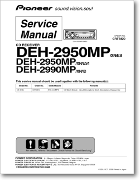 Pioneer servicemanuals for cd receivers.