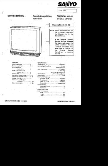 diagrama  manual sanyo ds 25430