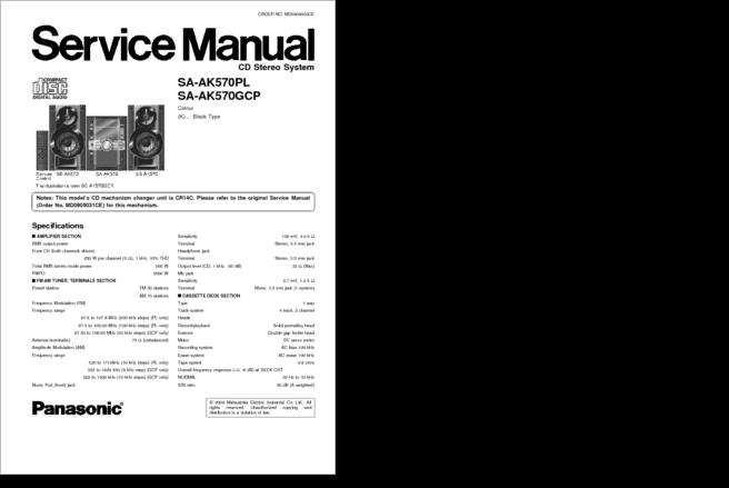 DiagramaManual    Panasonic       SA   AK570