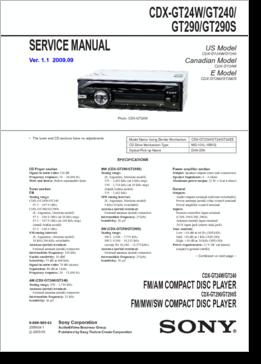 SONY CDX GT290_148601_350 diagrama manual sony cdx gt24w, cdx gt240, cdx gt290, cdx gt290s sony cdx gt200 wiring diagram at n-0.co