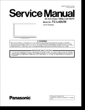 diagrama manual panasonic tc l42u30 la14. Black Bedroom Furniture Sets. Home Design Ideas