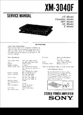 SONY XM 3040F EPUB DOWNLOAD