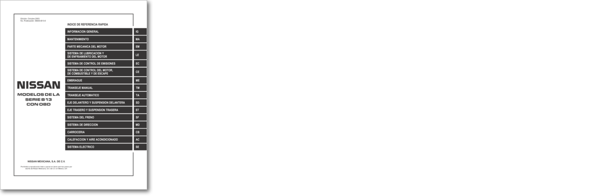Diagrama  Manual Nissan Tsuru Iii